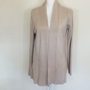 Dana Buchman Light Beige Cardigan, Size: Large